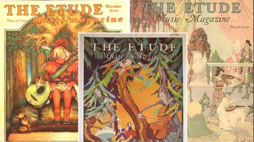 The Etude Magazine Covers