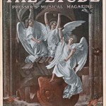 Art Deco Angels on the Cover of the 1918 Etude Magazine