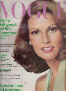Young Raquel Welch on cover of 1973 Vogue