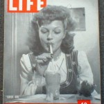 Rita Hayworth Smoking on the cover of Life Magazine