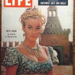 Anita Ekburg on cover of life magazine 1956
