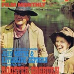 Photo Play magazine cover of John Wayne and Katherine Hepburn