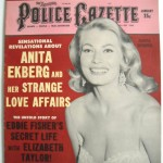Anita Ekburg Cover on police Gazette