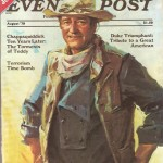 Saturday Evening Post cover with John Wayne