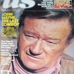 John Wayne on the cover of US magazine. 1978