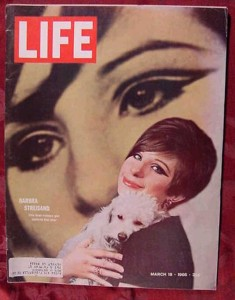 Barbara Streisand on the cover of Life Magazine - 1966