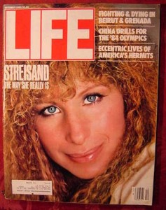 Barbara Streisand on the cover of Life Magazine - 1983