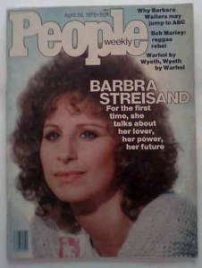 Barbara Streisand on the cover of People Magazine - 1976