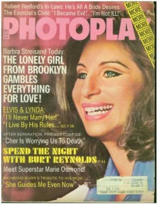Barbara Streisand on the cover of Photoplay Magazine - 1974