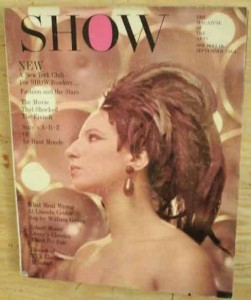 Barbara Streisand on the cover of Show Magazine- 1964