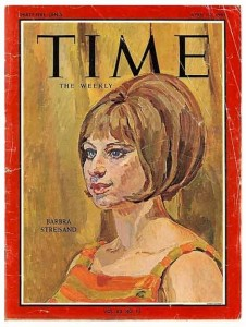 Barbara Streisand on the cover of Time Magazine - 1964