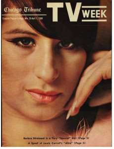 Barbara Streisand on the cover of TV Weekly magazine - 1966