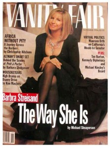 Barbara Streisand on the cover of Vanity Fair magazine - 1994